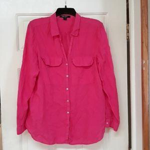 Nine West Jeans Fuschia blouse XL